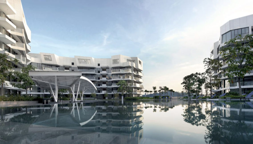 Studio Libeskind, Corals at Keppel Bay, Keppel Land, waterfront, Australia, residential complex, green architecture, aluminium facade, glass panels
