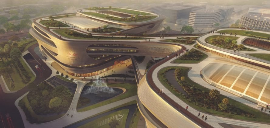 Zaha Hadid S Guangzhou Infinitus Plaza Focuses On