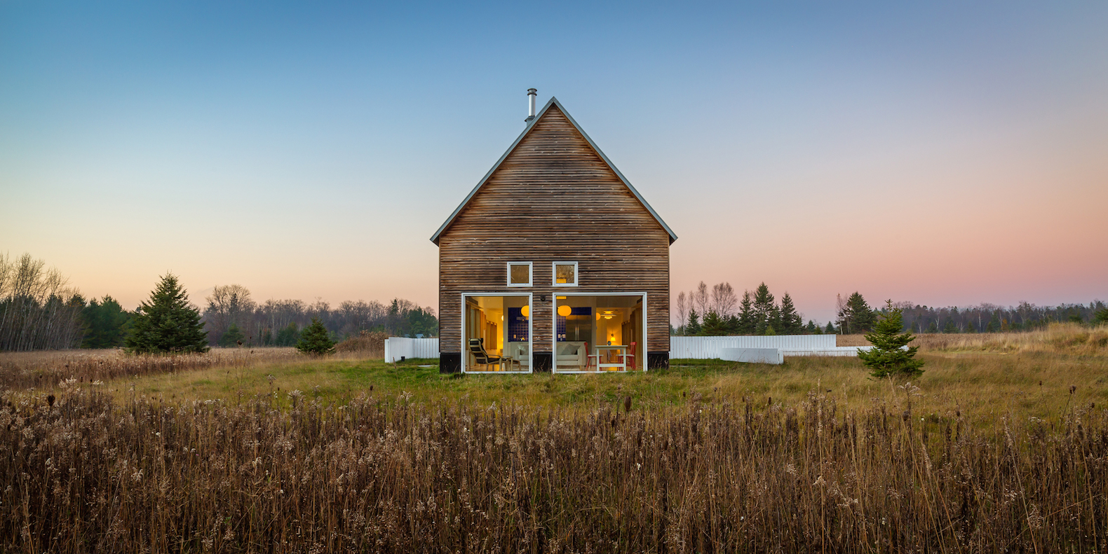 Barn-inspired contemporary home ages beautifully over time