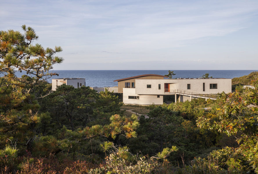 House of Shifting Sands by Ruhl Walker Architects, House of Shifting Sands at Cape Cod, net zero energy Cape Cod house, Cape Cod beach house, Ruhl Walker Architects at Cape Cod, native landscape Cape Cod