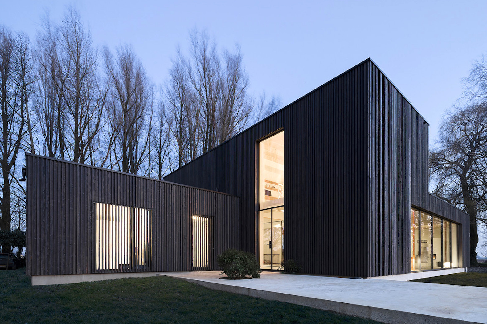 Burned-down house is resurrected as an energy-efficient prefab dwelling