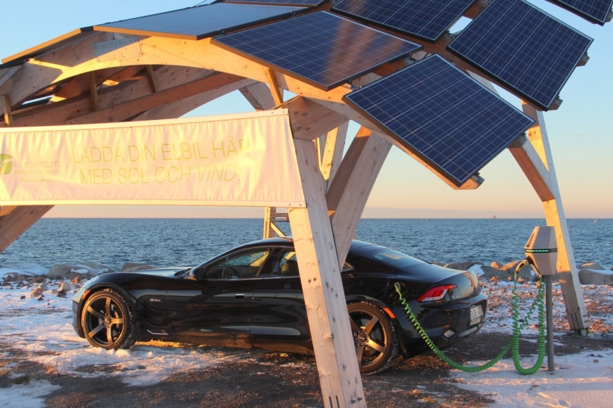 V-Tent is a Solar-Powered EV Charger That Protects Your Car