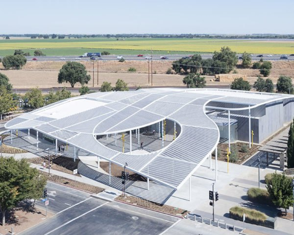 Manetti Shrem Museum, museum, Bohlin Cywinski Jackson, SO-IL, canopy, California, human scale, aluminium canopy, green architecture, multi-use spaces, communal spaces, natural light