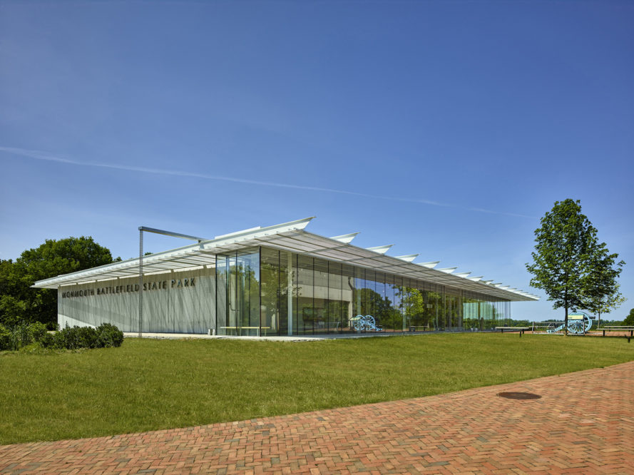 Monmouth Battlefield State Park Visitor Center by ikon.5 architects, Monmouth Battlefield State Park Visitor Center architecture, Monmouth Battlefield State Park Visitor Center in New Jersey, Monmouth Battlefield pavilion, LEED Silver visitor center, LEED Silver pavilion, LEED Silver architecture in New Jersey