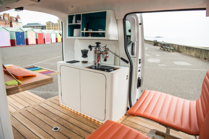 nissan e-nv200, e-nv200 workspace, studio hardie, electric vehicle, electric van, nissan electric van, mobile workspace, electric mobile workspace, mobile office