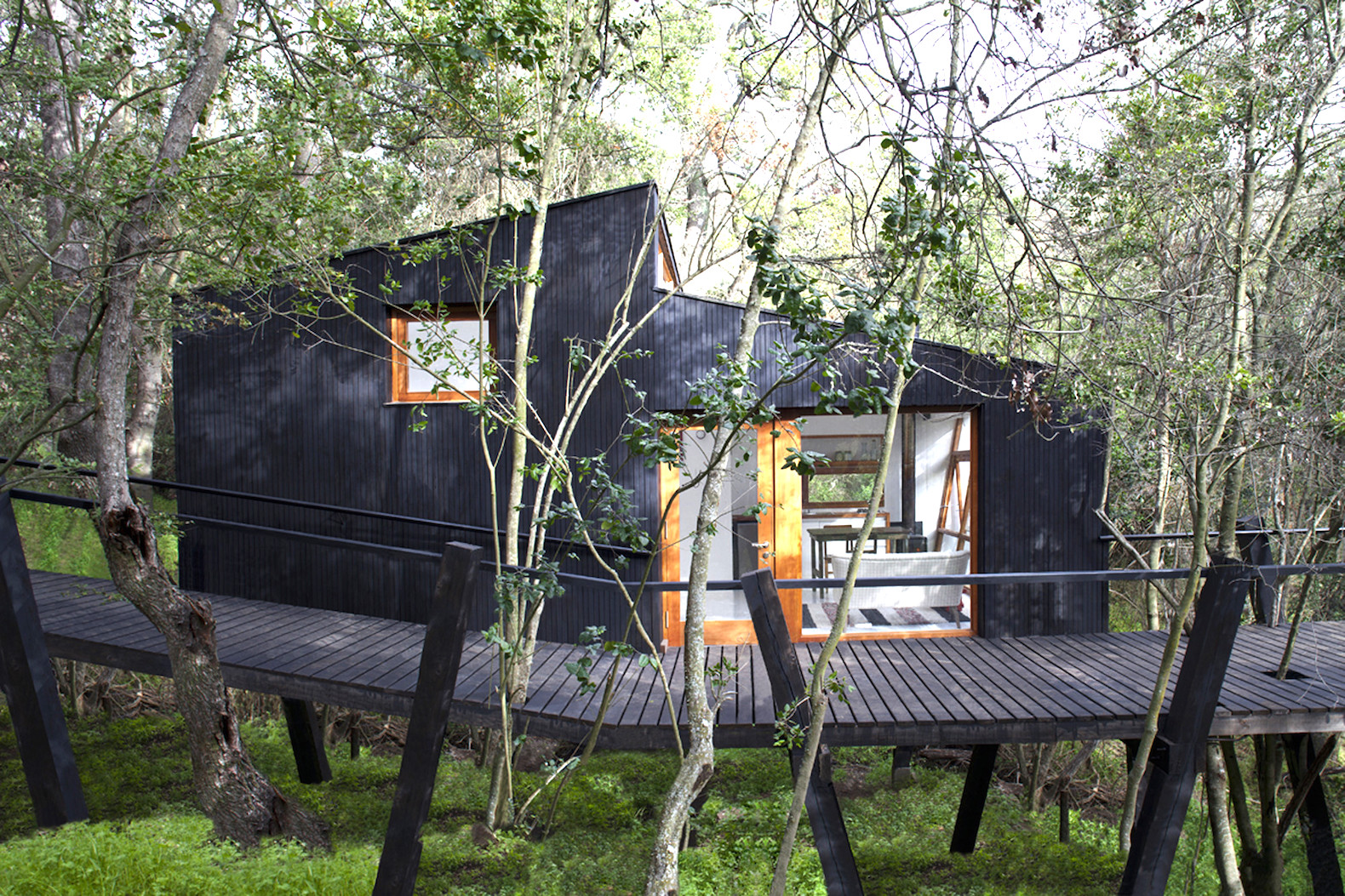 Casa quebrada is a tiny treehouse like haven immersed in the