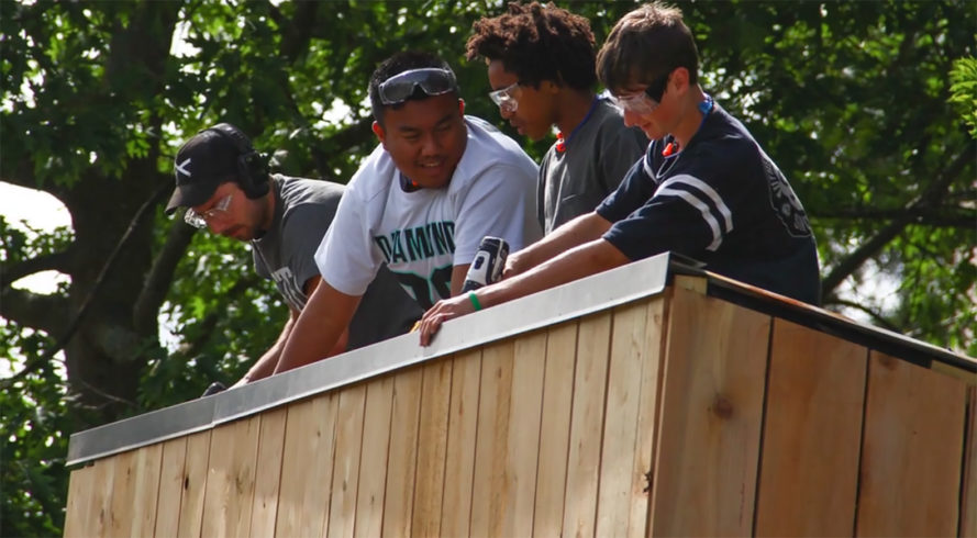 Seattle, Sawhorse Revolution, tiny homes for Seattle homeless, youth-built homes for Seattle homeless, tiny houses seattle, homeless tiny home camps seattle, Nickelville camps Seattle, seattle teens tiny homes, tiny home communities, Impossible City 1, Impossible City 2