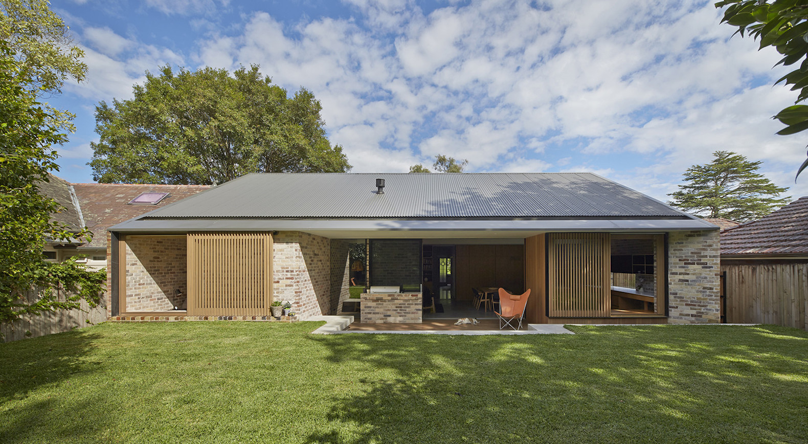 Old bungalow transformed into a light-filled dwelling with recycled brick
