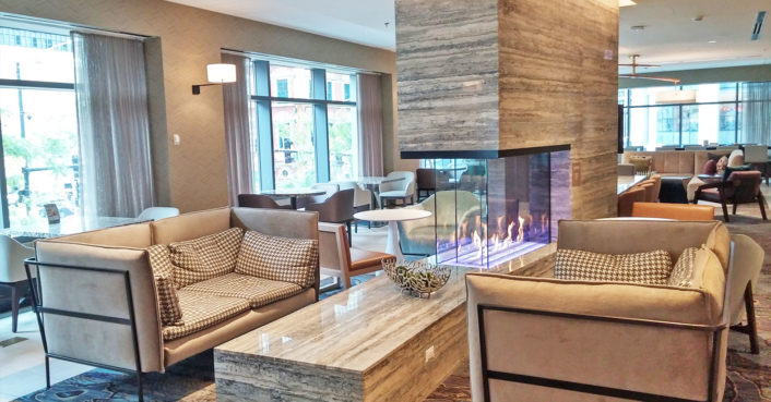 Springhill suites hotel fireplace inhabitat green for Springhill designs