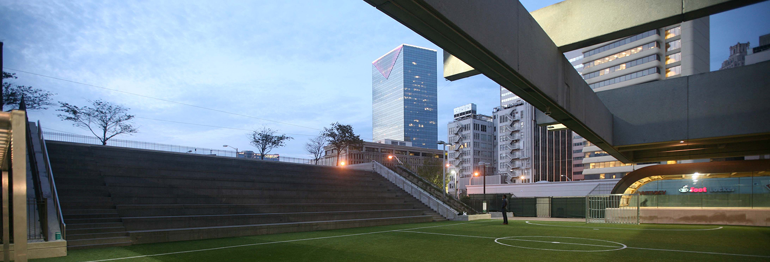 Atlanta unveils first ever soccer field inside a transit station