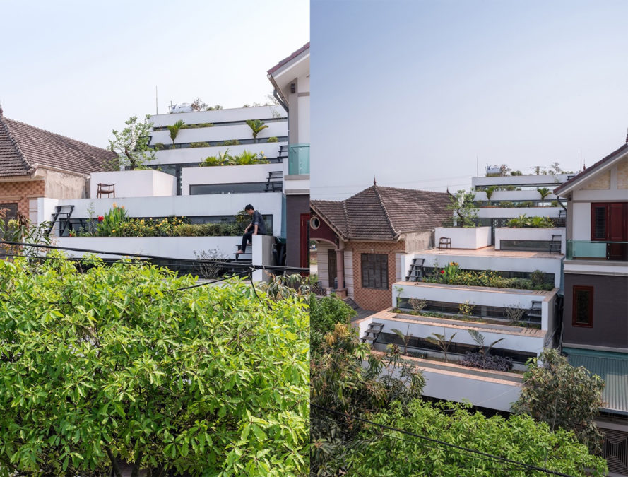 Terraces Home by H&P Architects, Terraces Home in Vietnam, Vietnamese terraced architecture, urban agriculture and architecture, sustainable architecture with agriculture