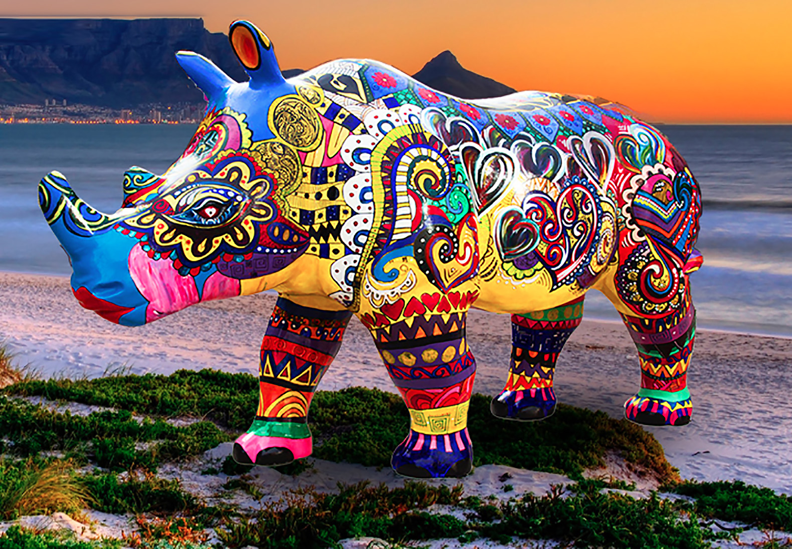 100 life-sized rhino sculptures are coming to Cape Town to save real ones