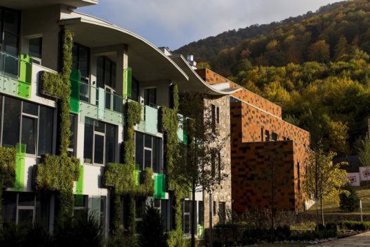 Armenia s first breeam certified building is an earthquake for Certified building designer