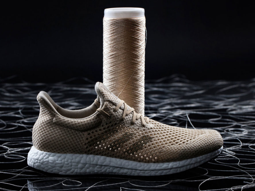 Adidas reveals biodegradable shoes made out of artificial spider silk