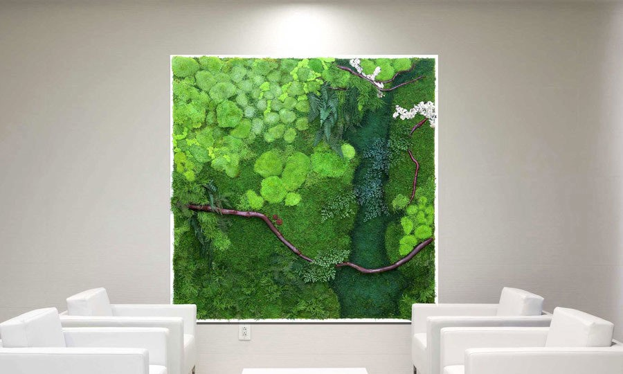 Luxury Artisan Moss uplant paintings u are maintenance free alternatives to living walls Inhabitat Green Design Innovation Architecture Green Building