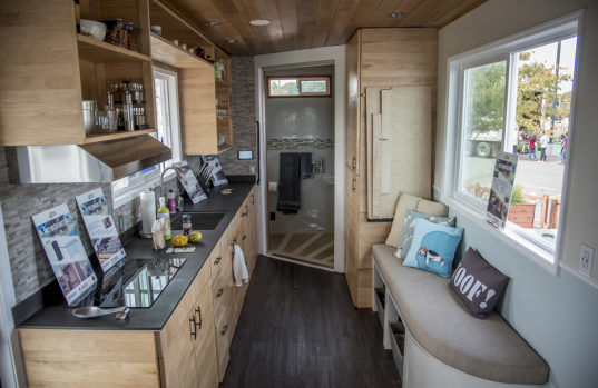Tiny House Furniture >> rEvolve House: revolving solar-powered home for veterans wins California's first tiny house ...