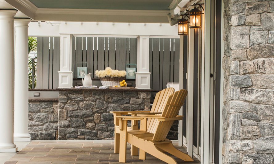 Outdoor patio, stone wall, stone floor, natural stone floor