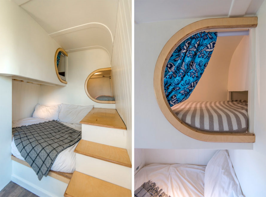 This Moving House, Jack Richens, 2012 Mercedes Benz Sprinter, Mercedes Benz Sprinter, camper van, camper, campers, camper vans, van, vans, camper van conversion, boat, boat designs, boats, beds, bed, bedroom