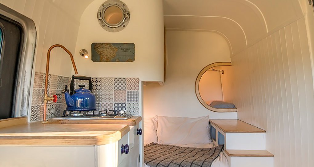amazing camper van maximizes space with clever boat design