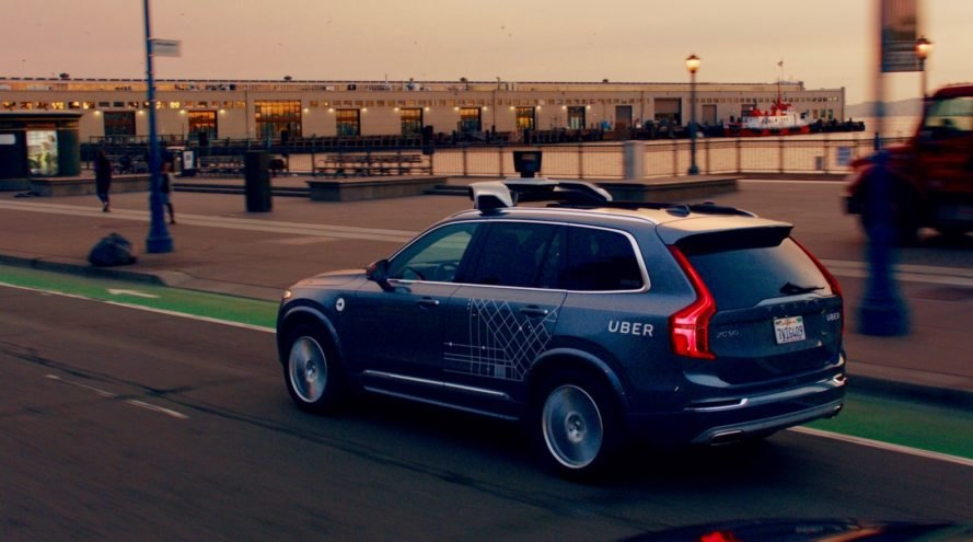 uber, volvo, volvo xc90, xc90, uber self-driving vehicle, self-driving vehicle, san francisco, California, dmv, green car, green transportation, autonomous vehicle
