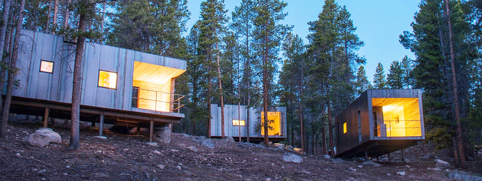 7 new micro-cabins in Colorado provide superior insulation in extreme weather
