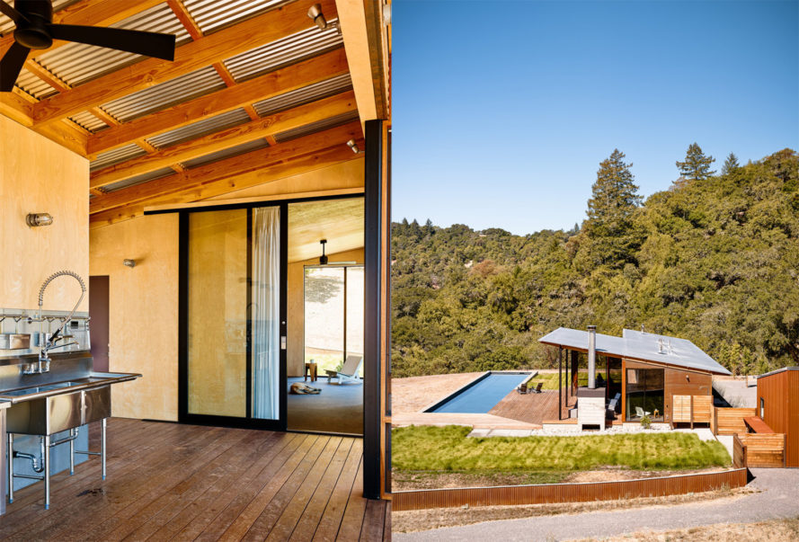 Camp Baird by Malcolm Davis Architecture, Camp Baird in California, off-grid cabin in California, modern solar powered architecture in california, eco-friendly weekend retreat in California, off-grid custom made cabin, Corten steel cabin