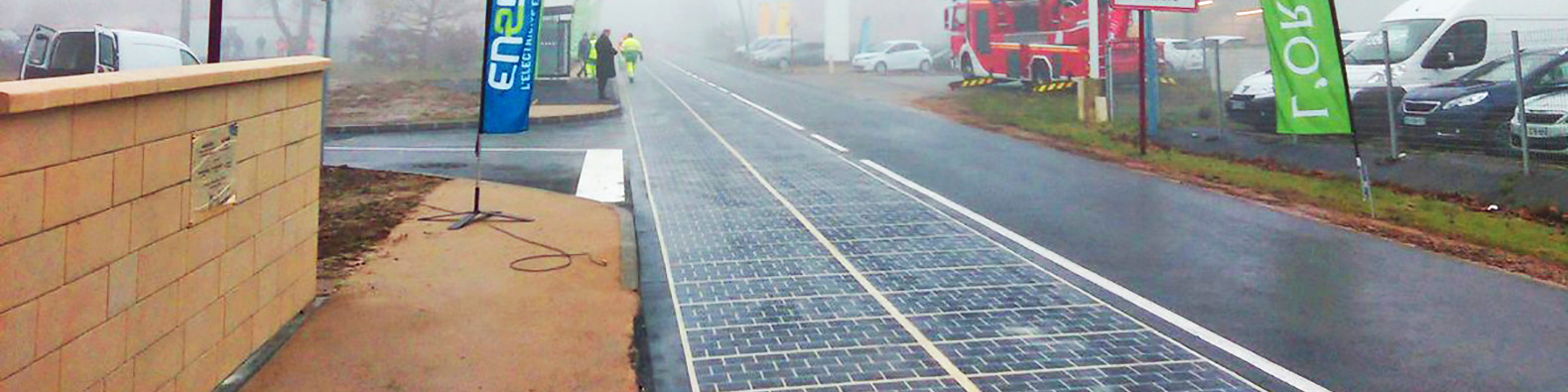 France officially opens world's first solar panel road