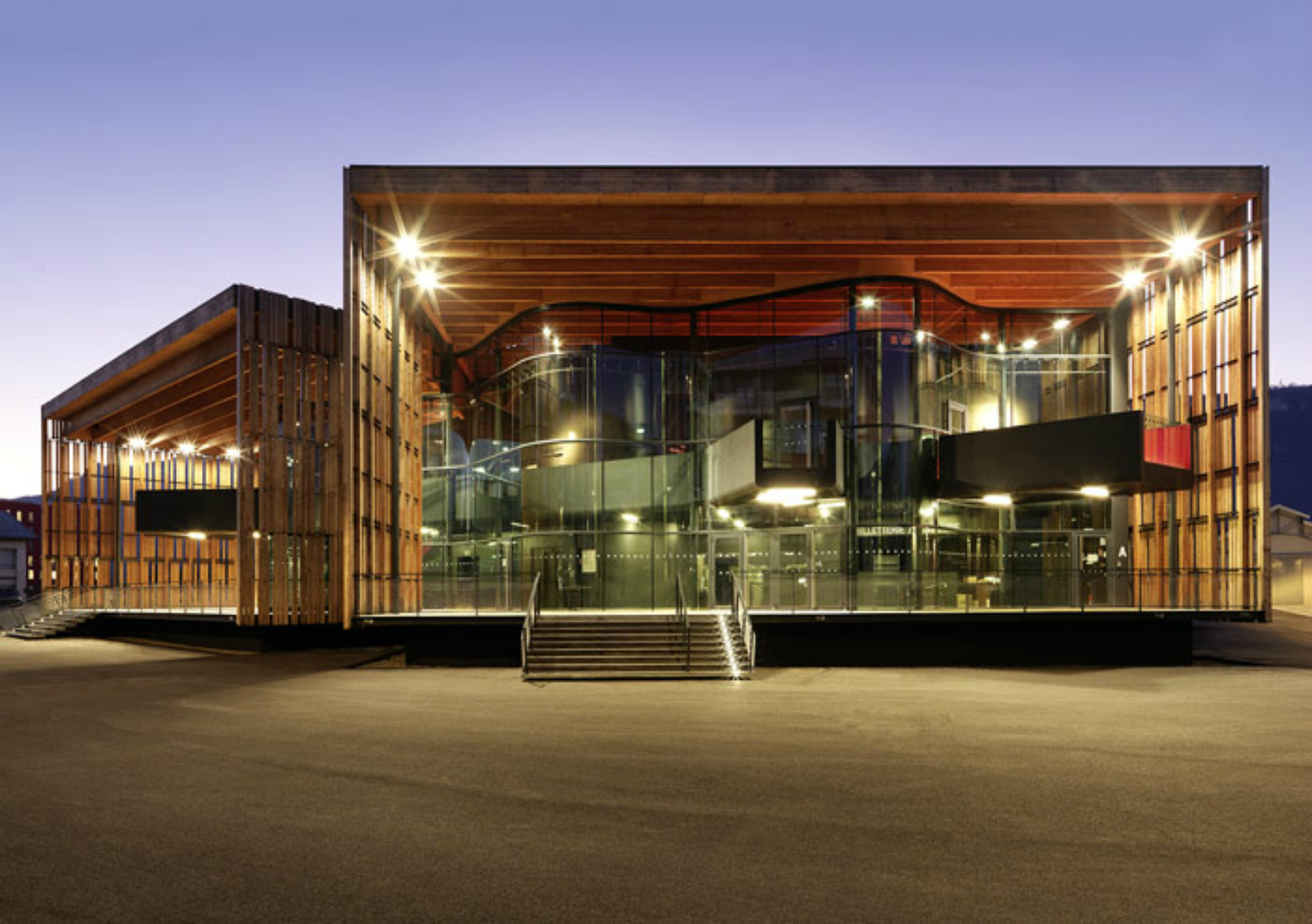 'La Belle Electrique' is a timber-clad concert hall built specifically for  electronic music