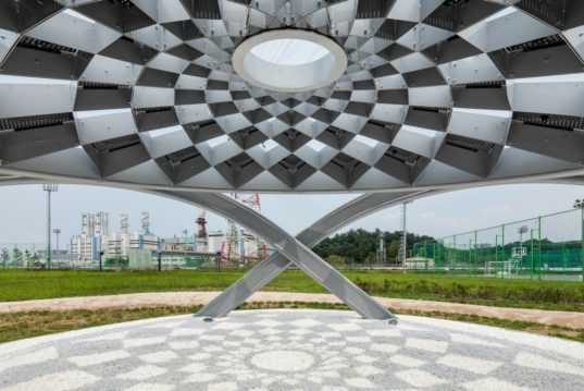 Solar Pines Are Creative Rest Areas In Seoul That Generate