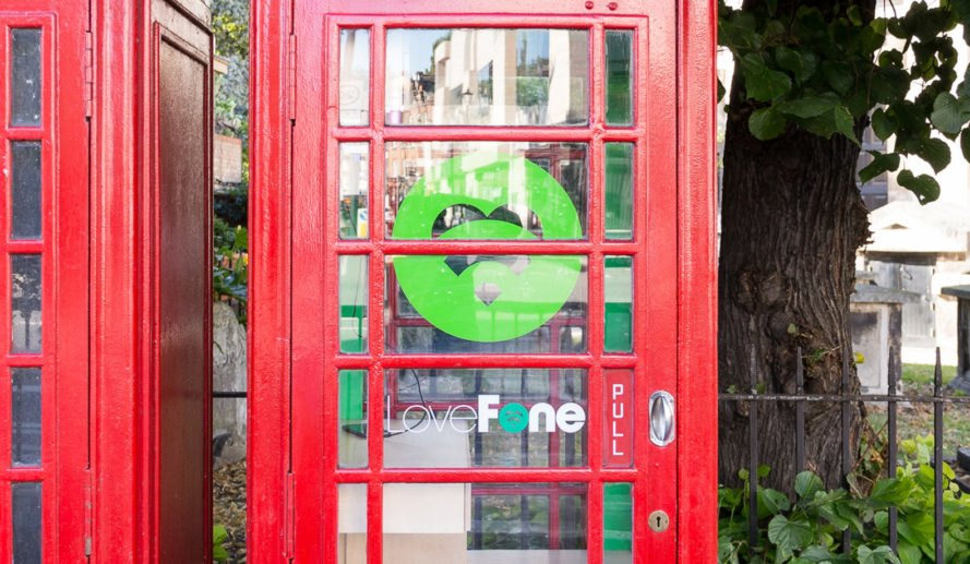 Lovefonebox, repurposed structure, London, Lovefone, smartphone charging, green design