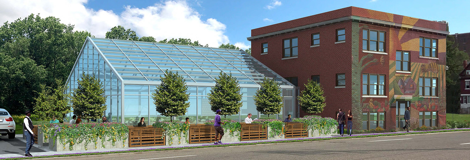 America's first urban 'agrihood' feeds 2,000 households for free