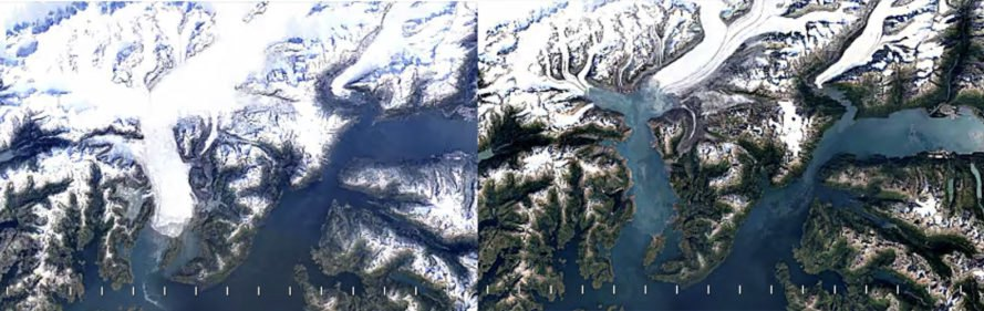 Google timelapse, Google maps, Goodle maps reveal climate change, climate change, global warming, melting glaciers, Google climate change, climate change 2016, climate change timelapse
