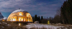 Hjertefølgers, Benjamin and Ingrid Hjertefølger, Hjertefølger family, Nature House, Nature House by Benjamin and Ingrid Hjertefølger, Arctic Circle geodesic dome house, geodesic dome home, life in Nature House, Nature House cob, Arctic Circle cob home