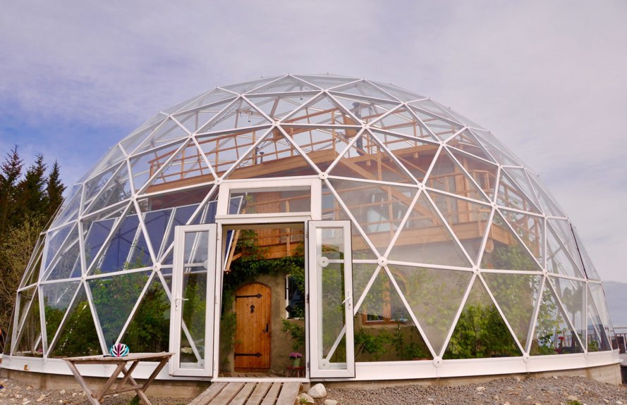 Nature House, Nature House by Benjamin and Ingrid Hjertefølger, Benjamin and Ingrid Hjertefølger, Hjertefølger, Hjertefølgers, Heartfollower, Heartfollowers, geodesic, geodesic dome, geodesic dome home, solar geodesic dome, cob, cob home, cob house, cob architecture, Norway, Arctic Circle, sustainable home, sustainable house, sustainable living