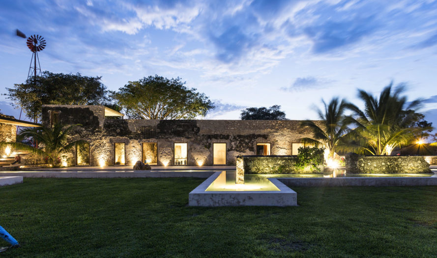 AS Arquitectura, R79 Arquitectura, Niop Hacienda, green renovation, Mexico, boutique hotel, green architecture, stone, concrete, steel, wood