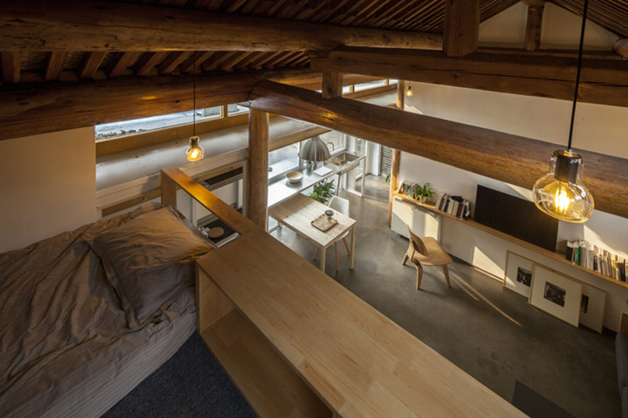 OEU-ChaO, tiny homes, tiny home renovation, bejing architecture, tiny home design, home renovation, small home movement, minimalist design, wooden roofs, sloped roof, compact spaces, space saving techniques, minimalist architecture, home renovation
