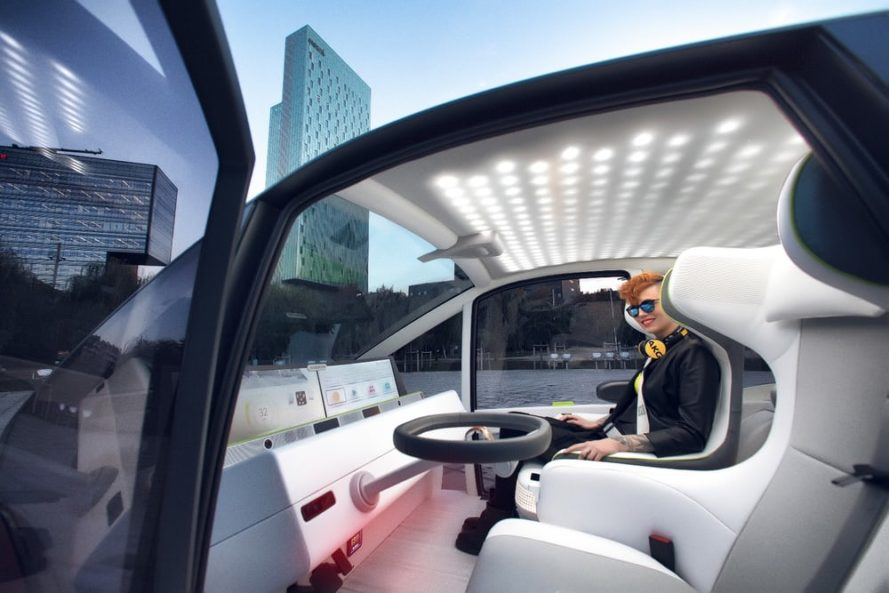 rinspeed, rinspeed oasis, autonomous cars, self-driving car, concept cars, urban gardening on wheels, growing plants in cars, garden in a car, mobile office, office on wheels, autonomous mobile office, self-driving mobile office, artificial intelligence, navigation, ces