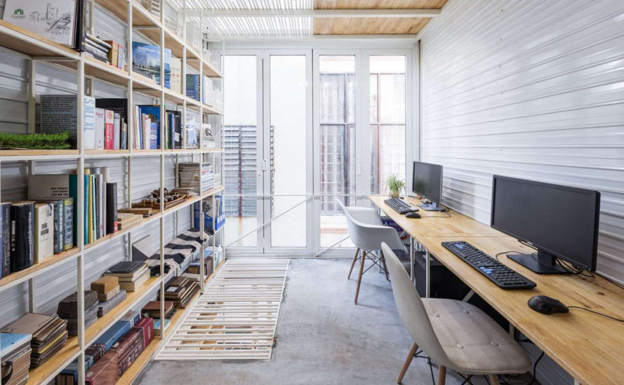SMA Architecture Studio, SMA254, tiny spaces, tiny apartment, green renovation, Hanoi, mezzanine, low-cost renovation, Vietnam, green architecture, natural light, natural ventilation