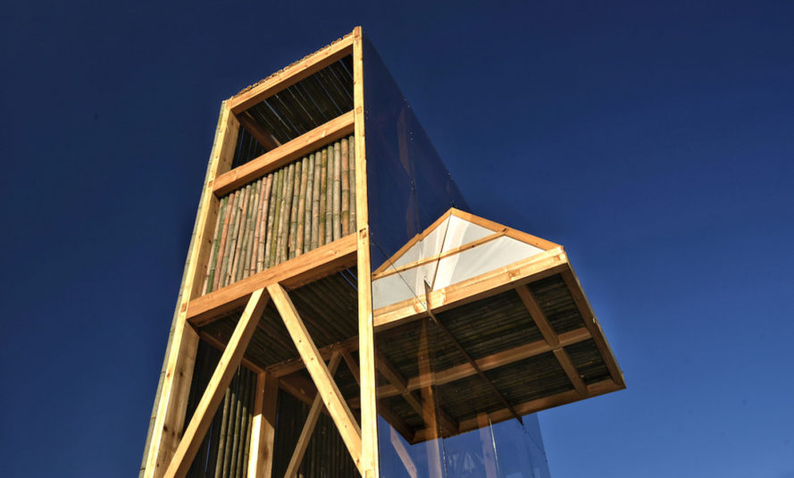 Shelter The Mirrored Sight, Li Hao, shelter, bamboo shelter, China, locally sourced materials, bamboo, green architecture