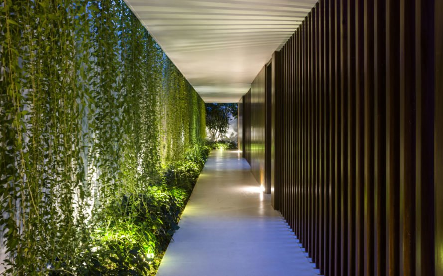 MIA Design Studio, Drawer House, living wall, green wall, Vietnam, courtyard, natural light, natural ventilation, green architecture