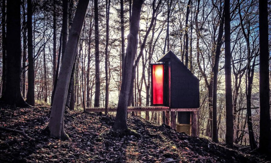 The Long Drop, composting toilet, long drop toilet, Invisible Studio Architects, waste materials, locally sourced wood, unskilled labor, green architecture, small structures, eco-friendly toilet