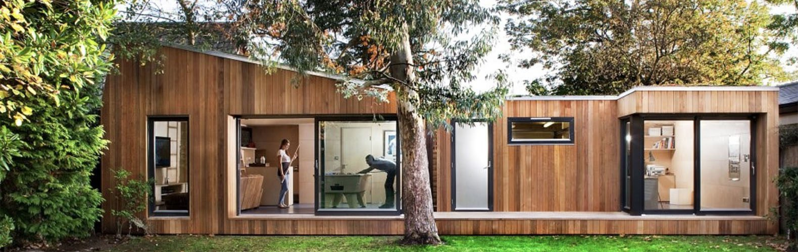this prefab london backyard studio is as cool as a custom cottage