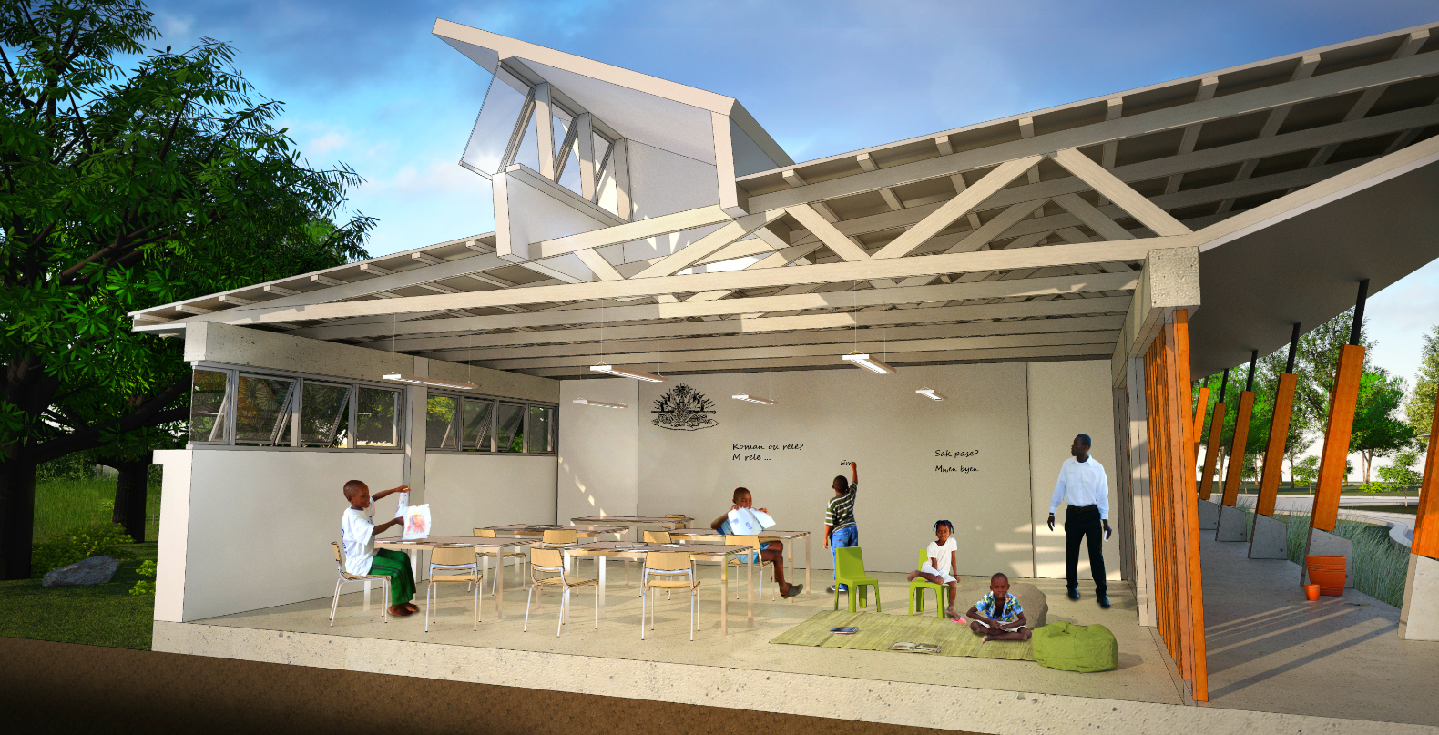 Haiti renovation project boosts community using local for Local builders house plans