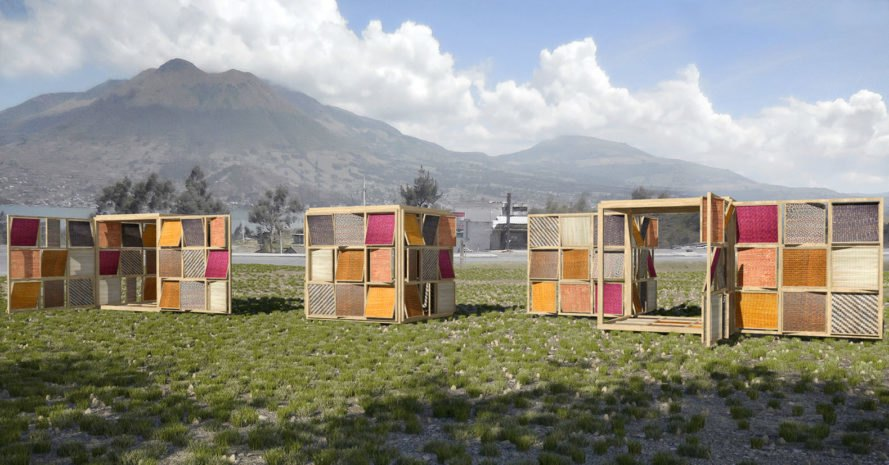 Archquid think-act tank, Totora's Cube, Ecuador, multi-use space, Totora plant, traditional weaving techniques, green architecture, local artisans, community space