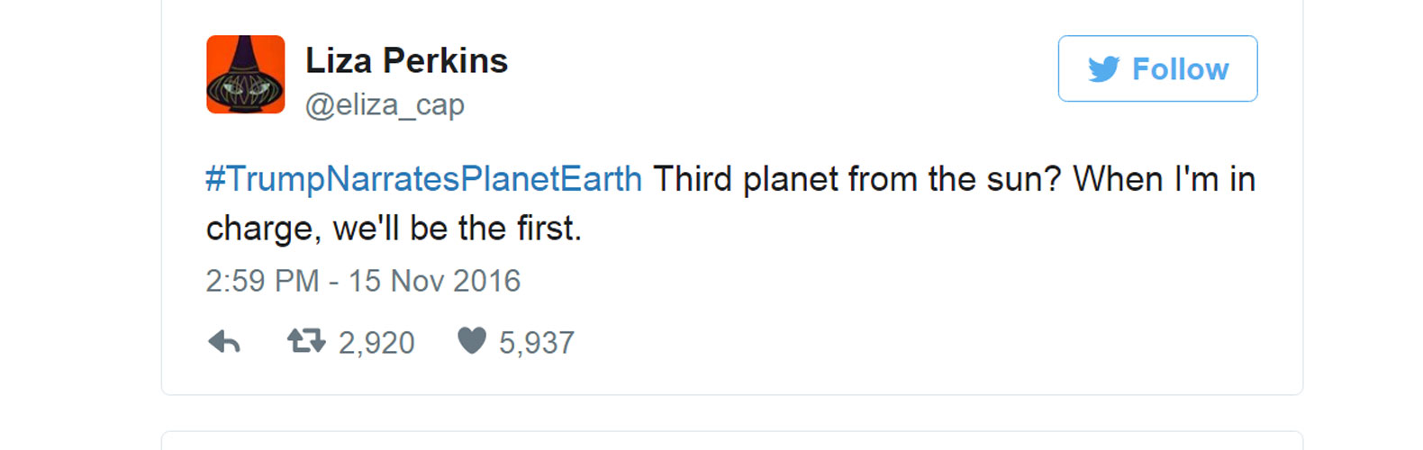 #TrumpNarratesPlanetEarth, Climate Change, planet earth, Trump climate change, Trump environment, Trump Narrates Planet Earth