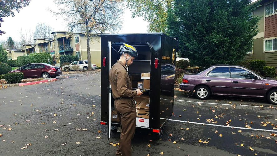 United Parcel Service, UPS, e-bike, e-bikes, e-bike delivery, e-bike deliveries, UPS e-bike, UPS e-bikes, Portland, Oregon, sustainability