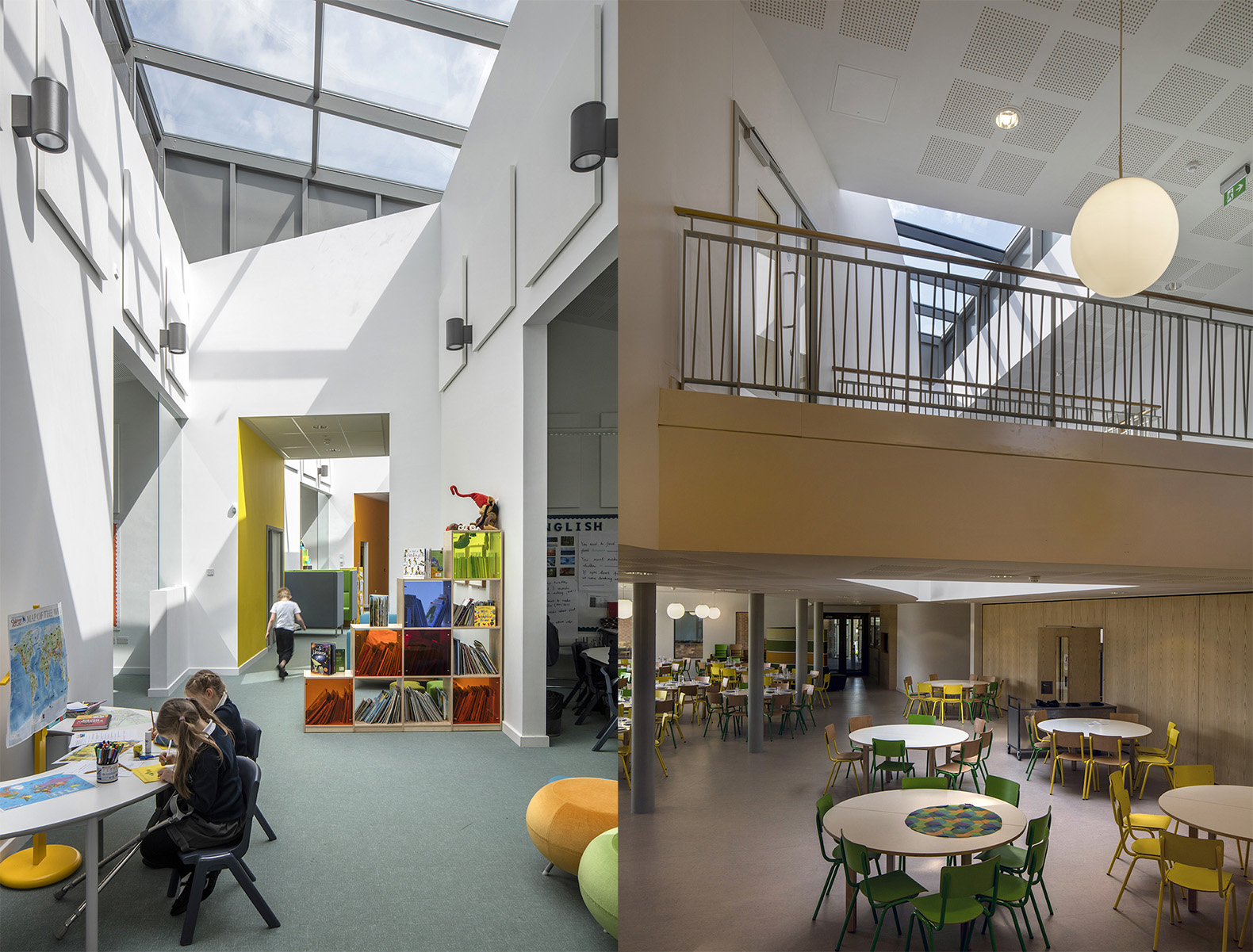 A Green Heart Unifies The Solar Powered University Of Cambridge Primary School By Marks Barfield Architects