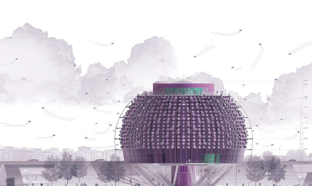 Drone Delivery Canada >> Futuristic Urban Droneport could act as a hub for drone deliveries | Inhabitat - Green Design ...