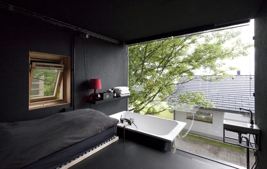 Japanese design, Zen Houses, Czech Republic, Liberec, twin cubic buildings, economy of space and materials, spatial economy, material economy, live and work studios Czech Republic, live and work cubes