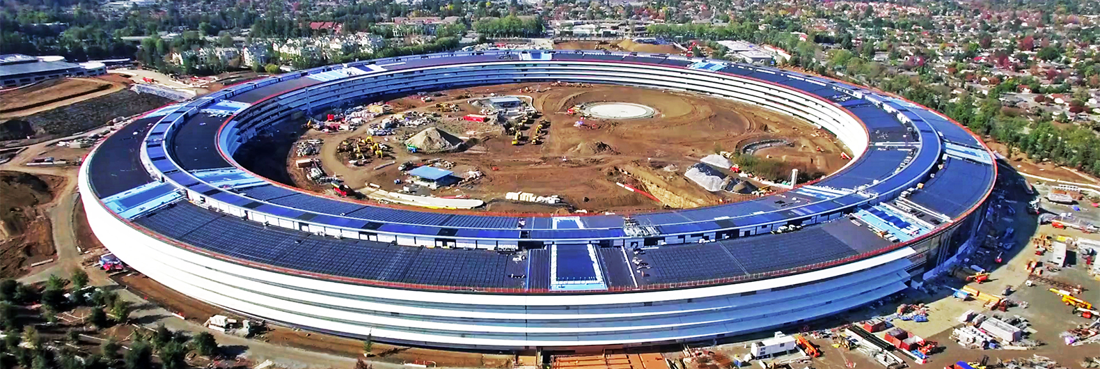 new apple office cupertino. Apple\u0027s New Solar-powered Spaceship Office Is Nearly Complete Apple Cupertino C
